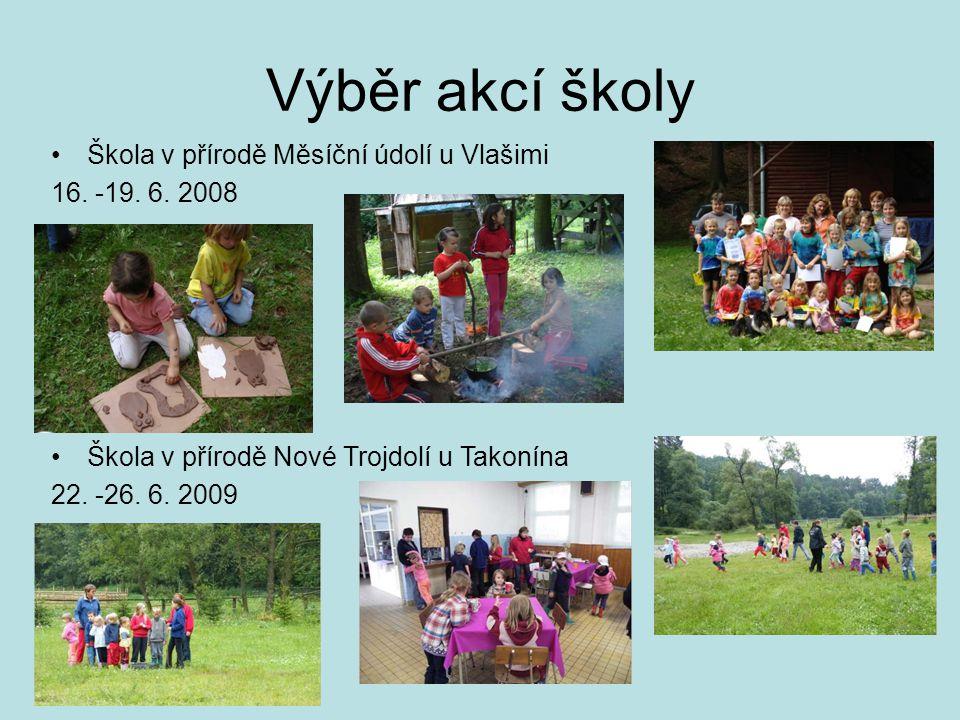 Výběr akcí školy Škola v přírodě Měsíční údolí u Vlašimi