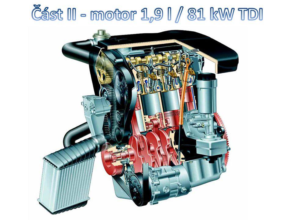 Část II - motor 1,9 l / 81 kW TDI
