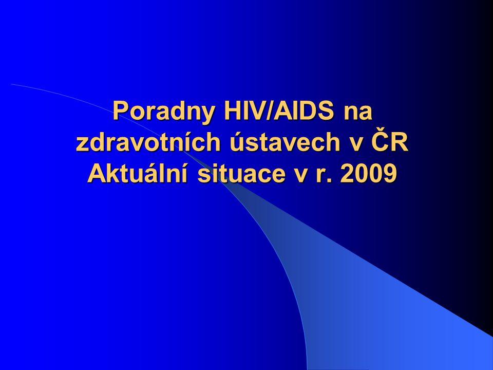 Poradny HIV/AIDS na zdravotních ústavech v ČR Aktuální situace v r