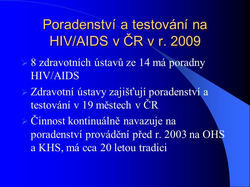 Poradenství a testování na HIV/AIDS v ČR v r. 2009