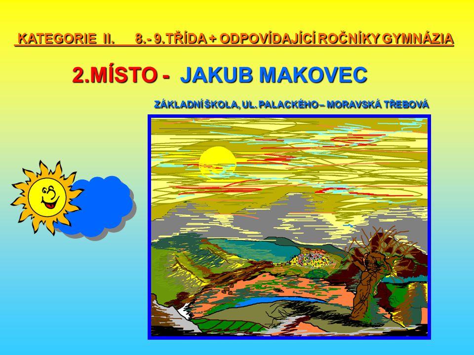 KATEGORIE II. 8. - 9. TŘÍDA + ODPOVÍDAJÍCÍ ROČNÍKY GYMNÁZIA 2