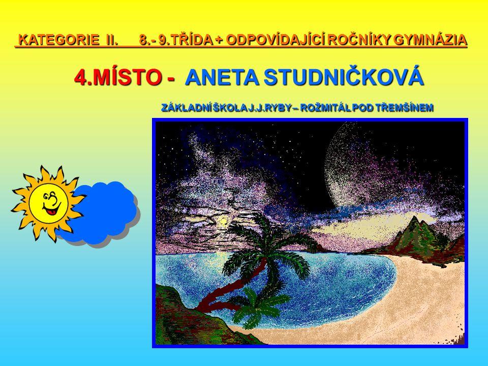 KATEGORIE II. 8. - 9. TŘÍDA + ODPOVÍDAJÍCÍ ROČNÍKY GYMNÁZIA 4