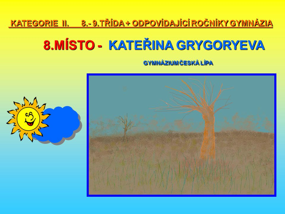 KATEGORIE II. 8. - 9. TŘÍDA + ODPOVÍDAJÍCÍ ROČNÍKY GYMNÁZIA 8