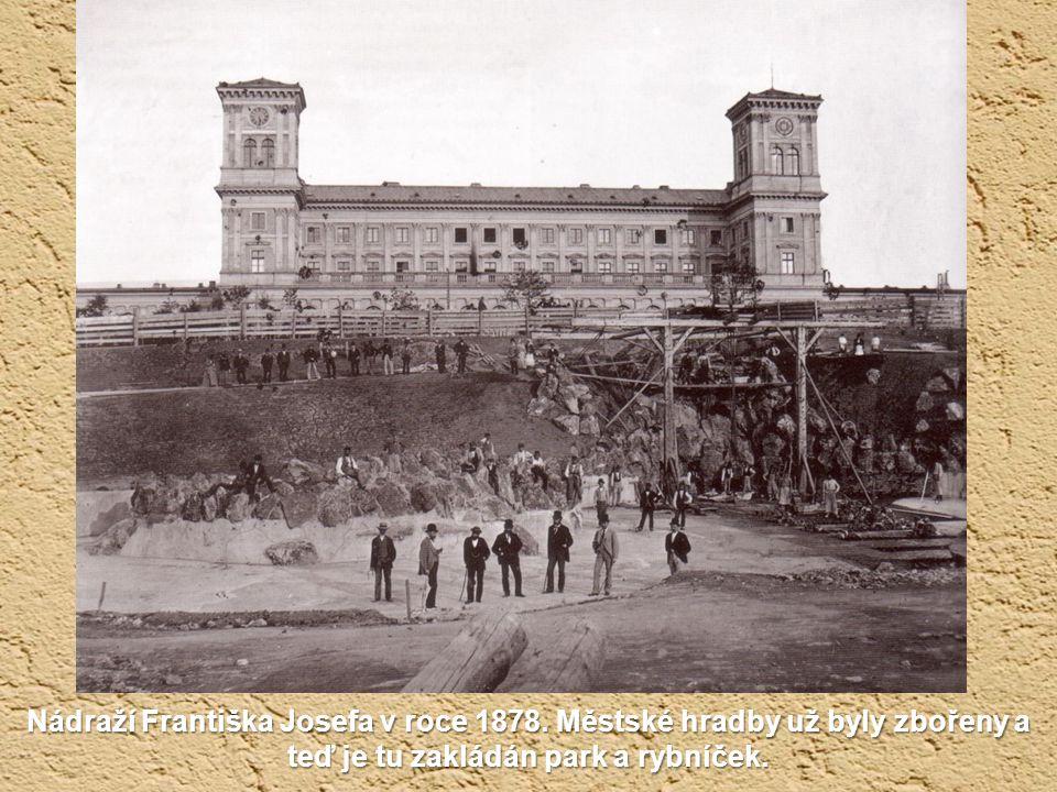 Nádraží Františka Josefa v roce 1878