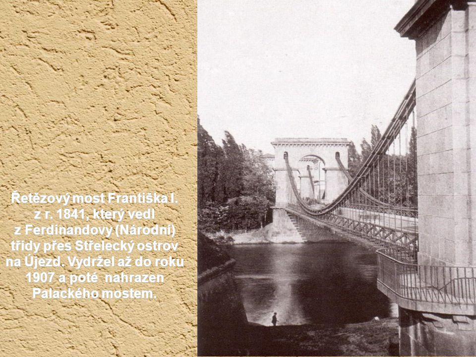 Řetězový most Františka I. z r