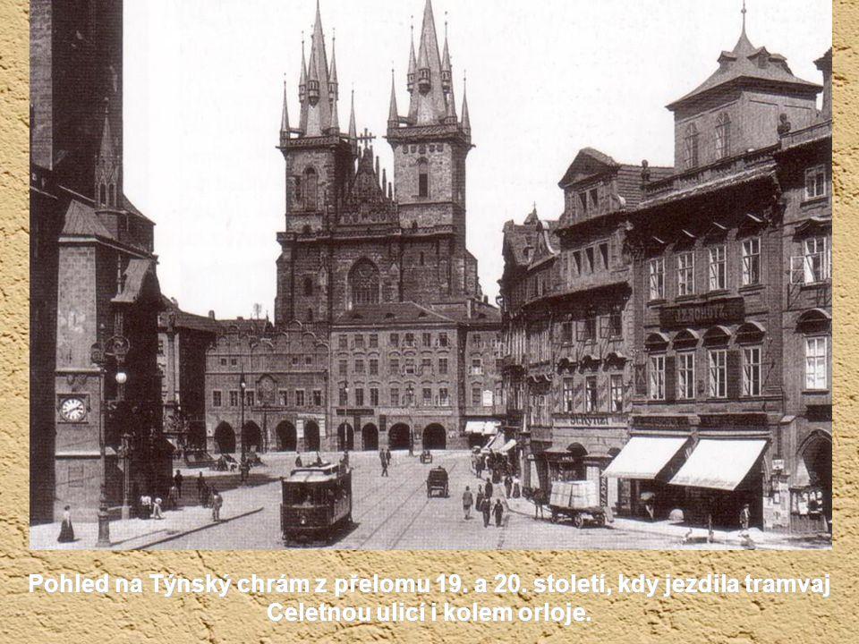 Pohled na Týnský chrám z přelomu 19. a 20