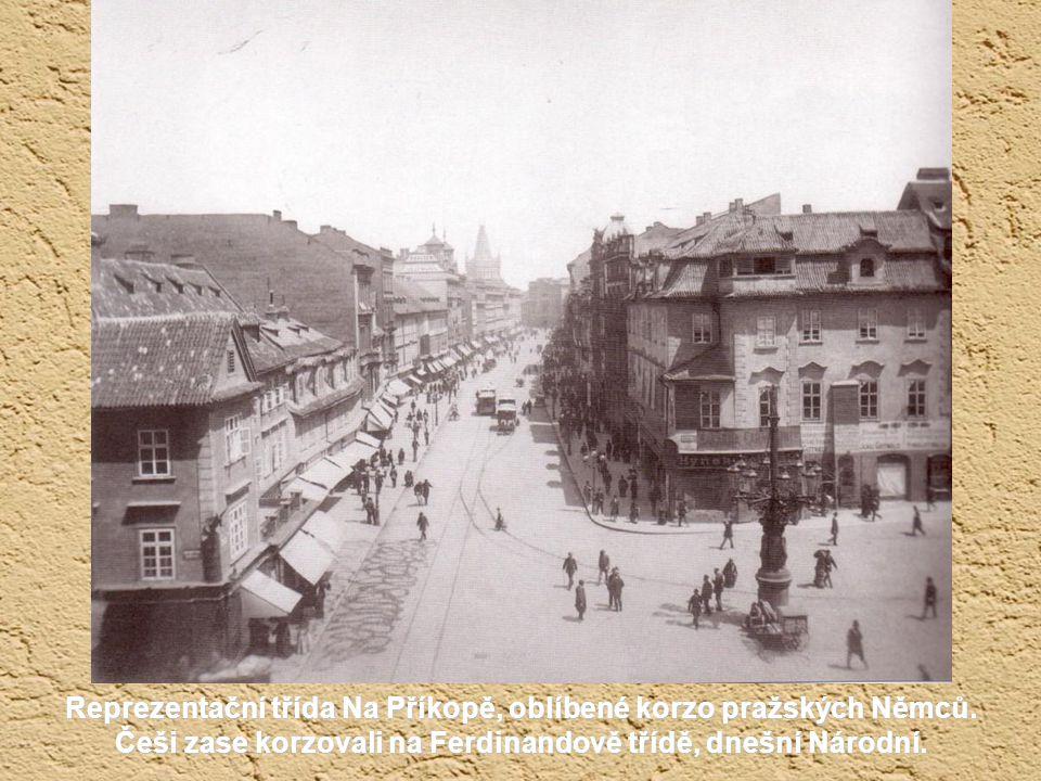 Reprezentační třída Na Příkopě, oblíbené korzo pražských Němců