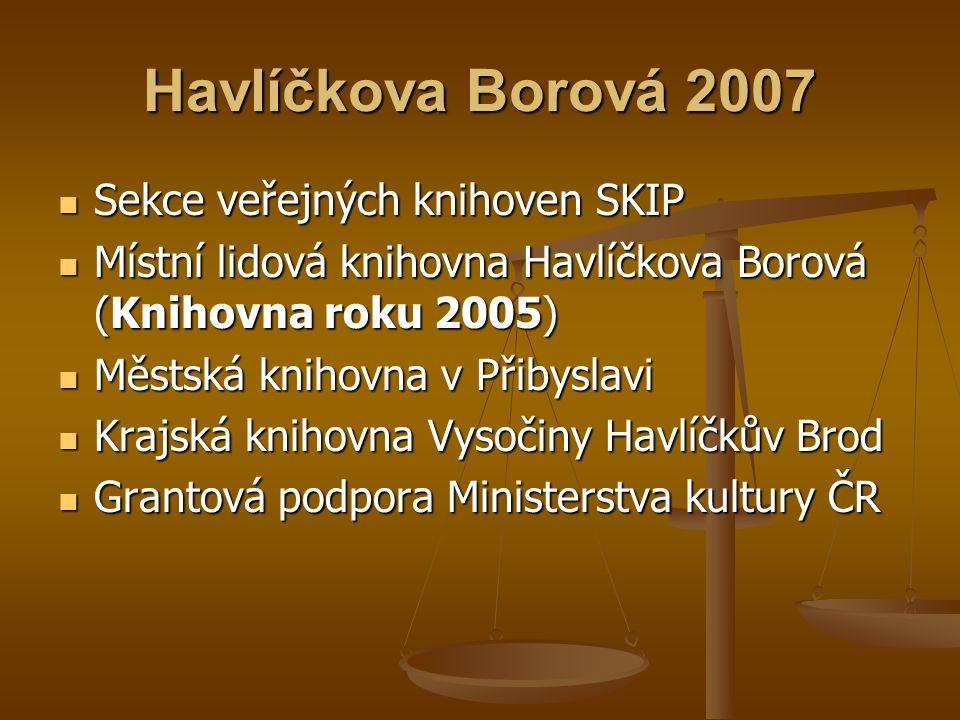Havlíčkova Borová 2007 Sekce veřejných knihoven SKIP