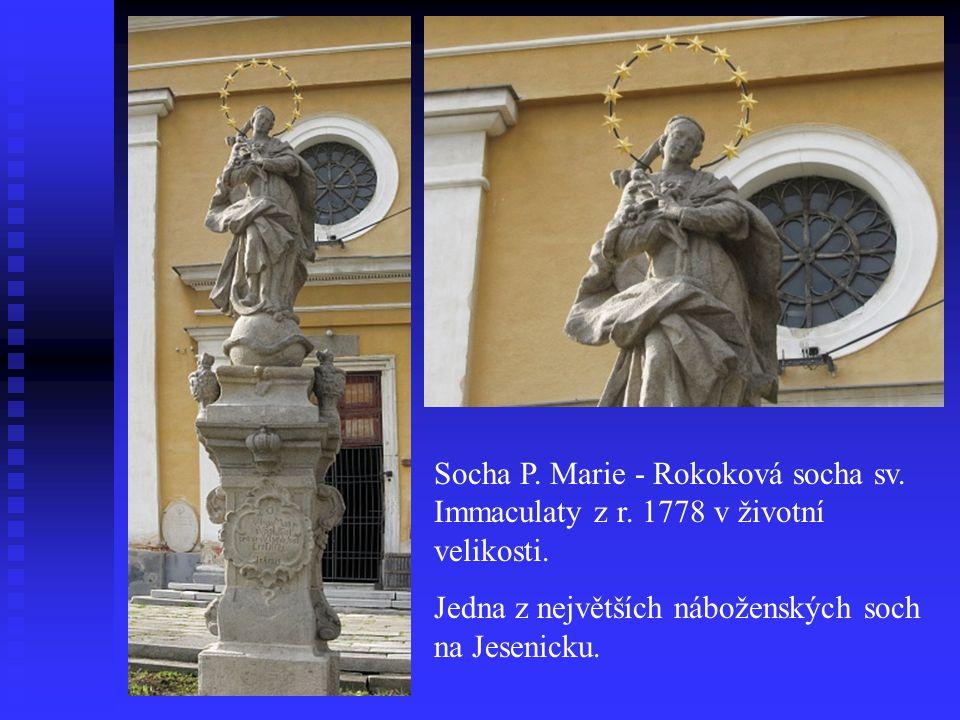 Socha P. Marie - Rokoková socha sv. Immaculaty z r