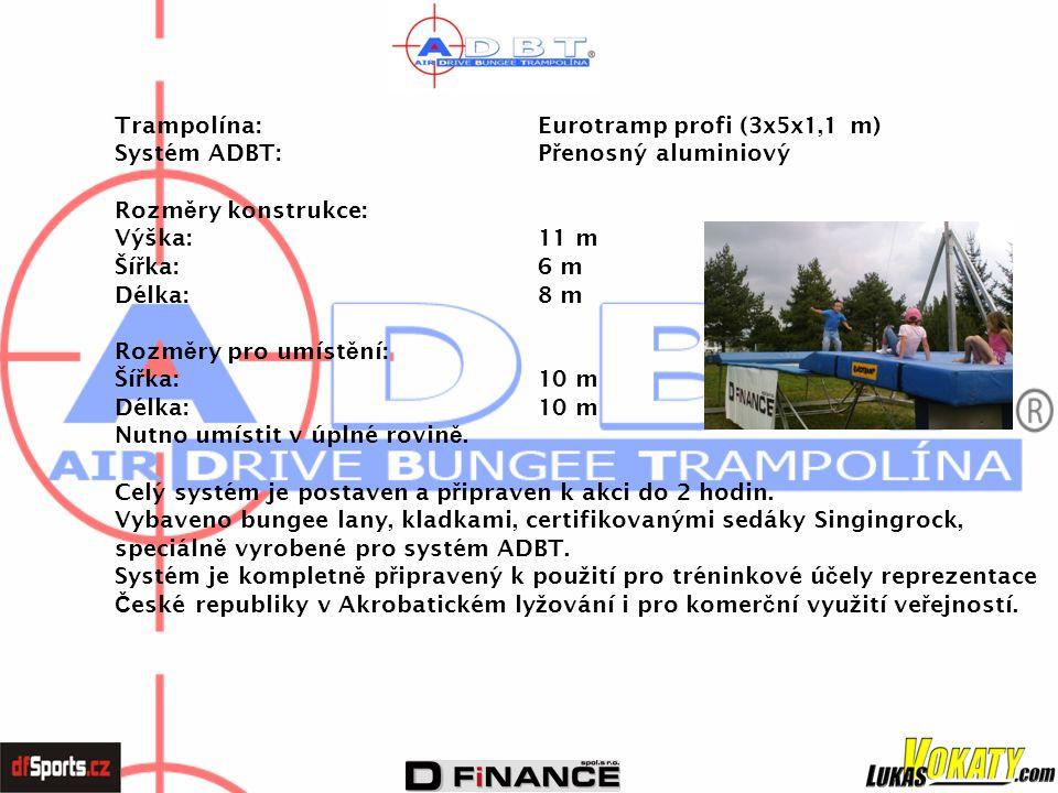 Trampolína: Eurotramp profi (3x5x1,1 m)