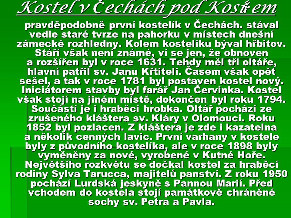 Kostel v Čechách pod Kosířem