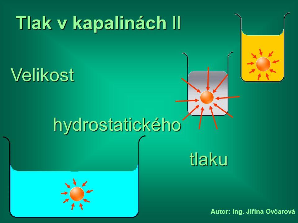 Tlak v kapalinách II Velikost hydrostatického tlaku