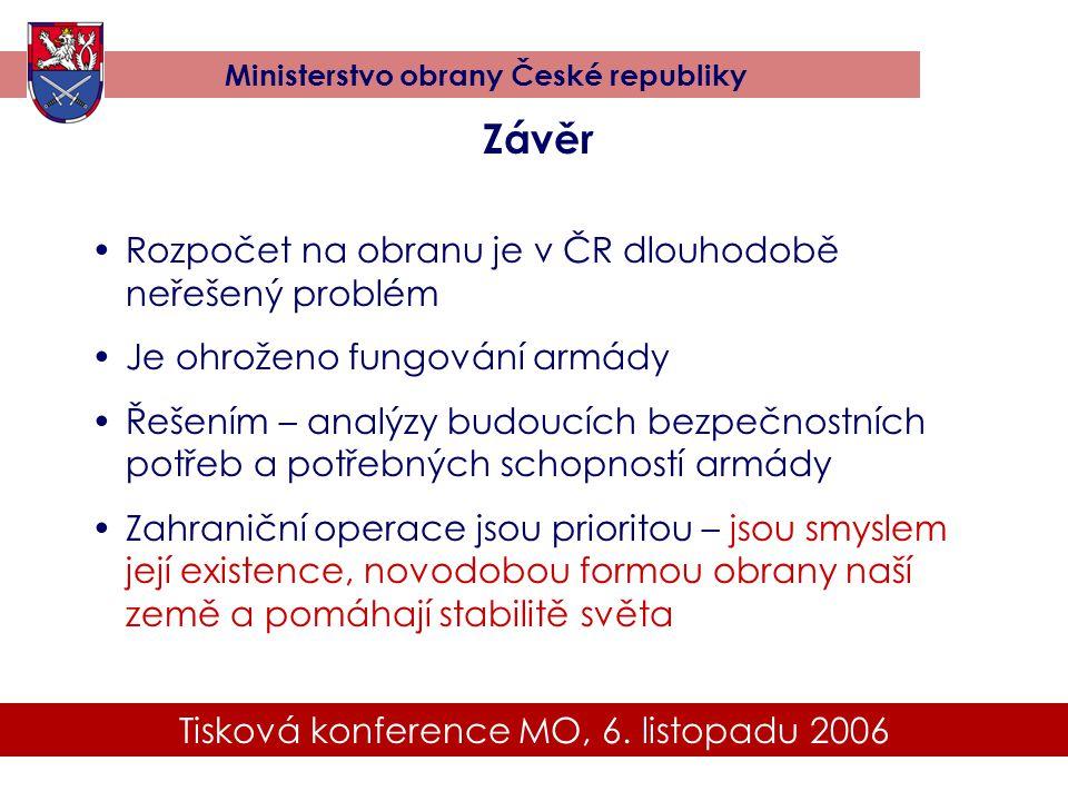 Tisková konference MO, 6. listopadu 2006