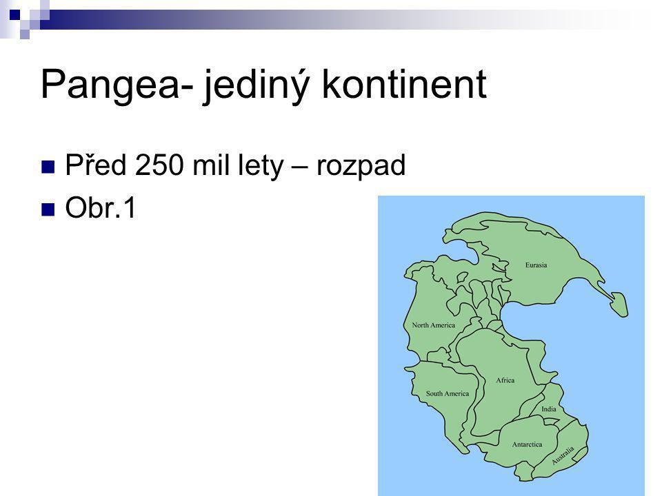 Pangea- jediný kontinent