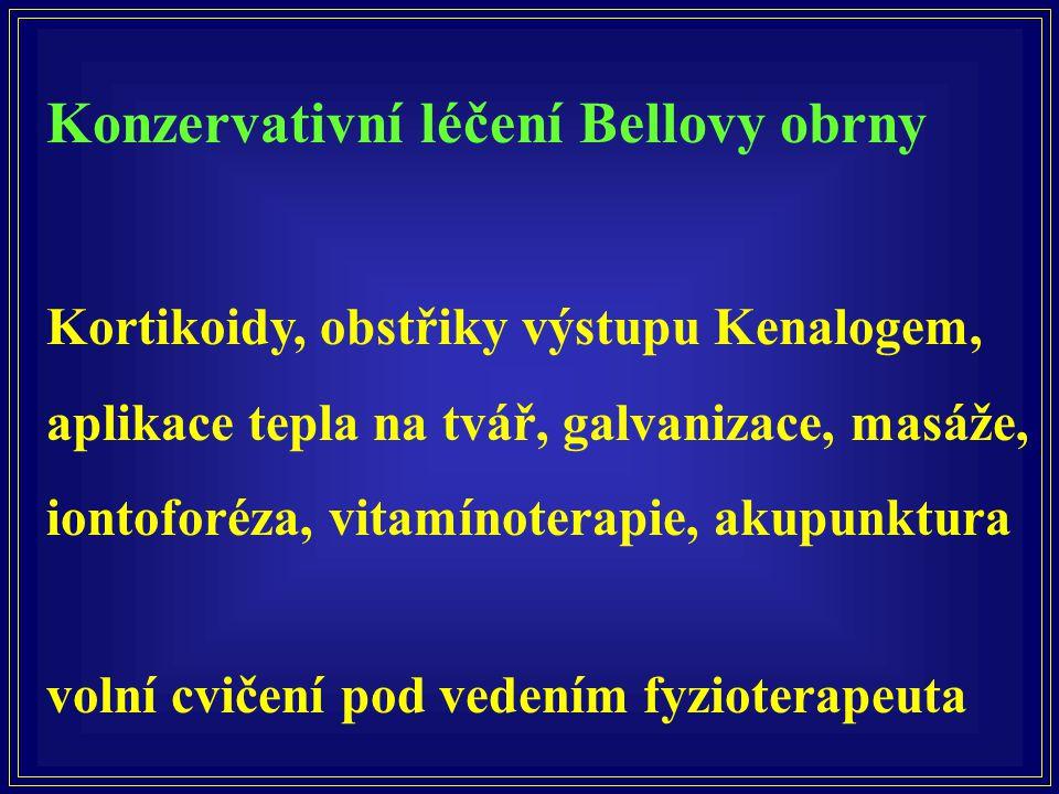 Konzervativní léčení Bellovy obrny