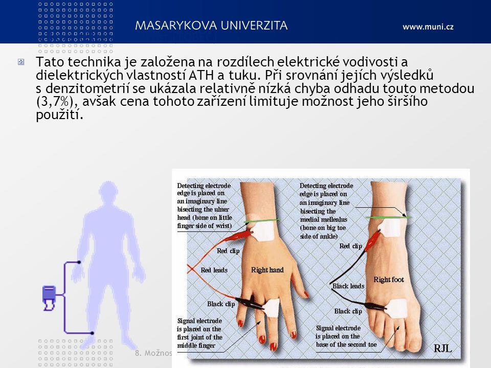 B. Celková tělesná vodivost (TOBEC)