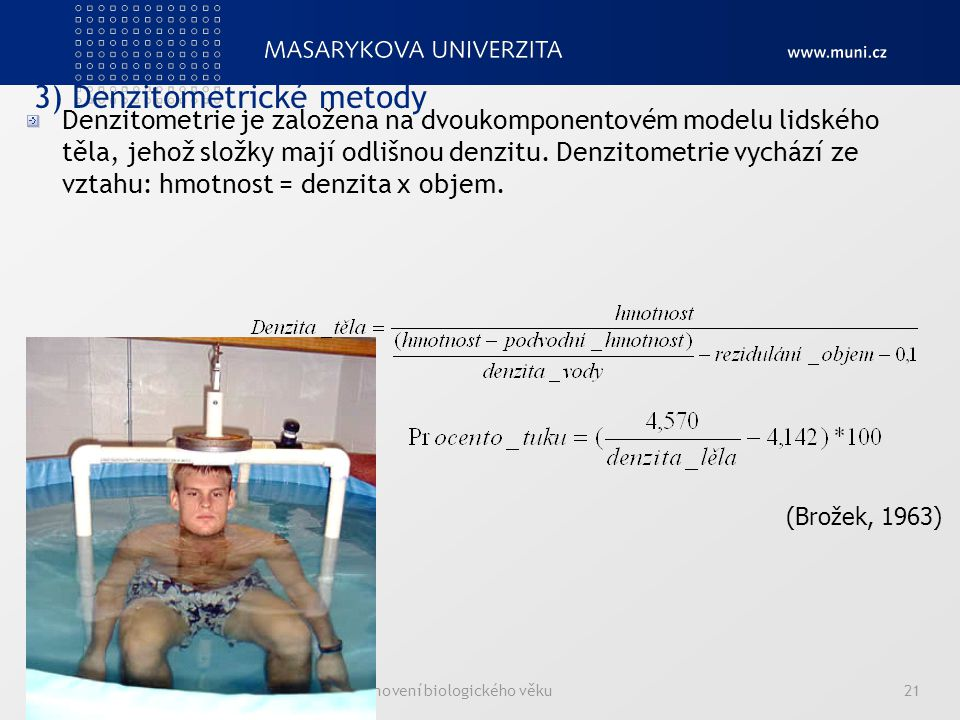 3) Denzitometrické metody