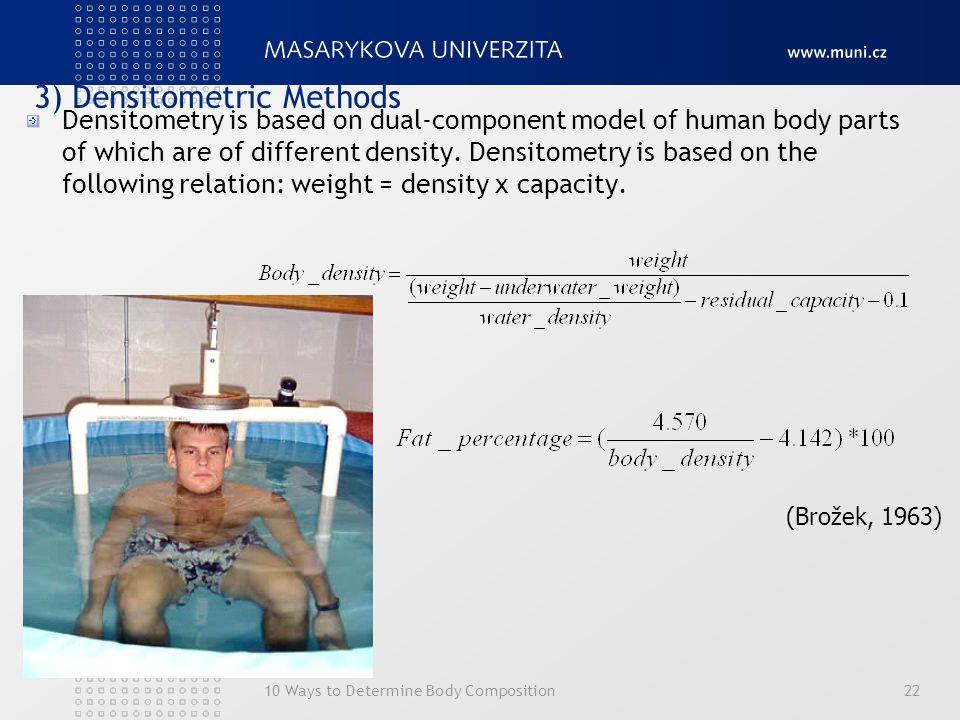 3) Densitometric Methods