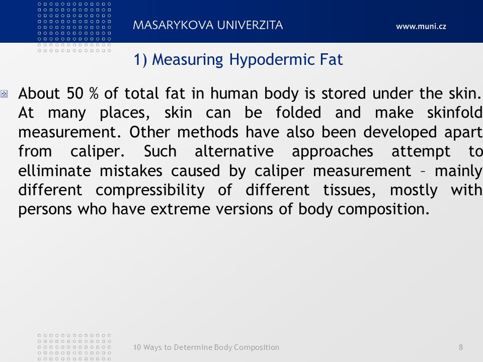 1) Measuring Hypodermic Fat