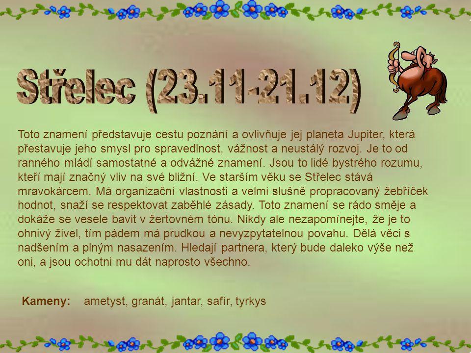 Střelec (23.11-21.12)
