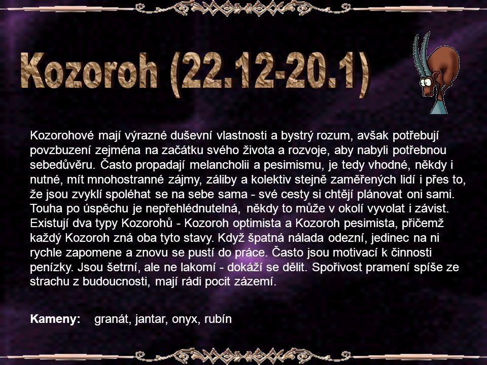 Kozoroh (22.12-20.1)