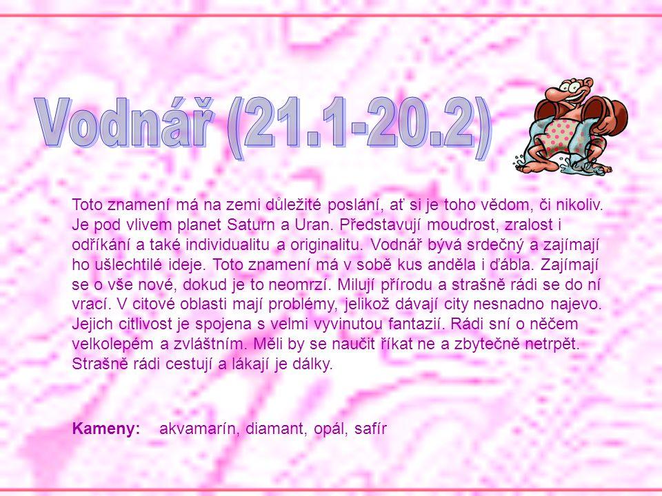 Vodnář (21.1-20.2)