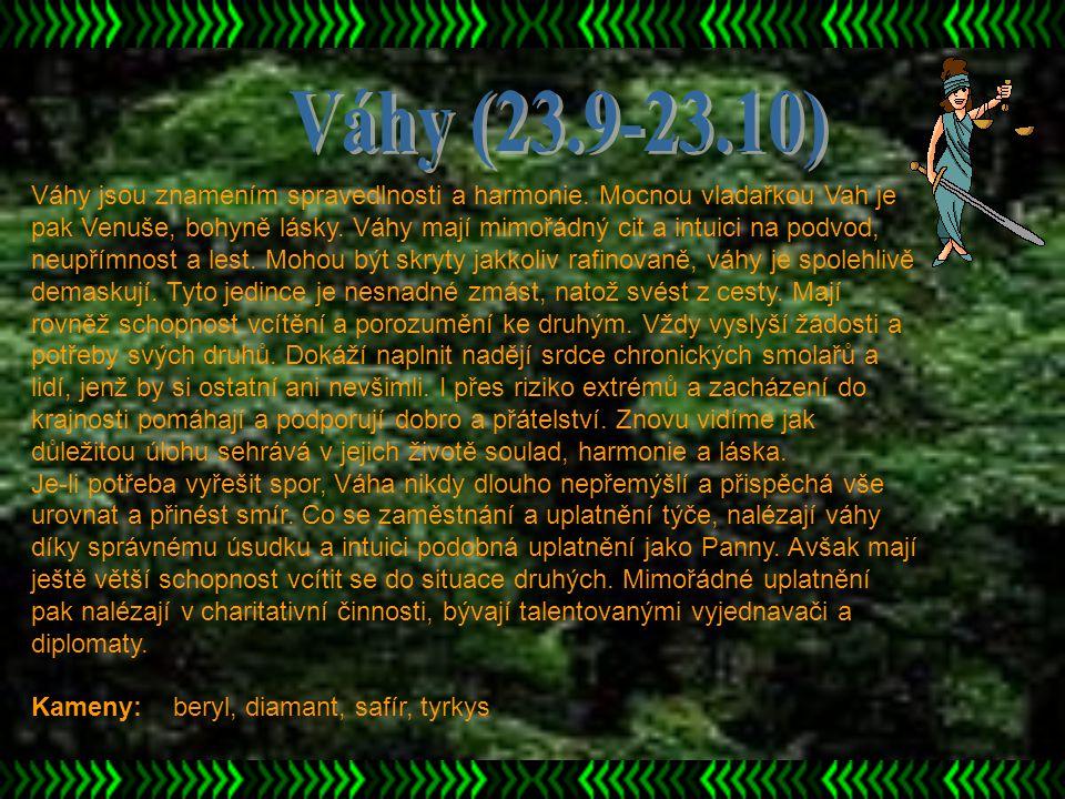 Váhy (23.9-23.10)