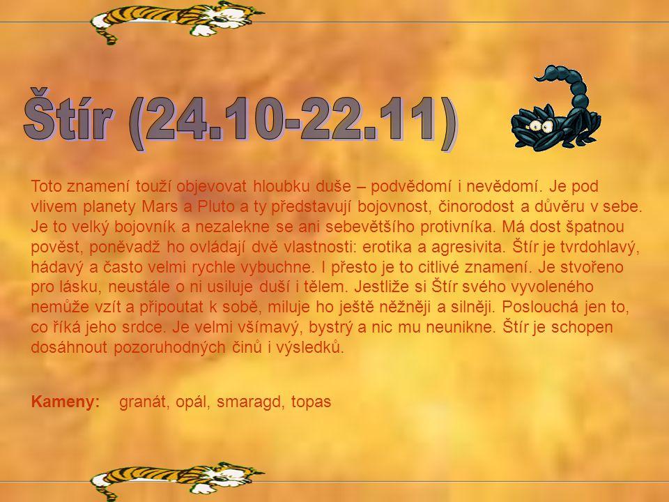 Štír (24.10-22.11)