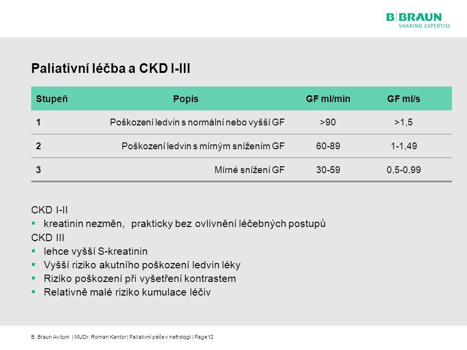 Paliativní léčba a CKD I-III
