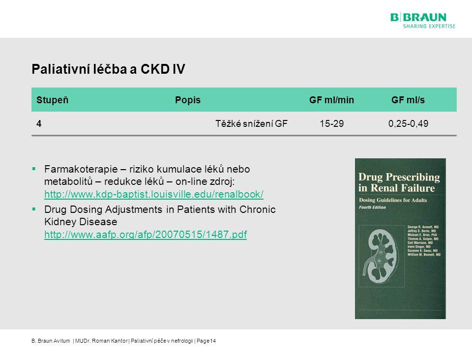 Paliativní léčba a CKD IV