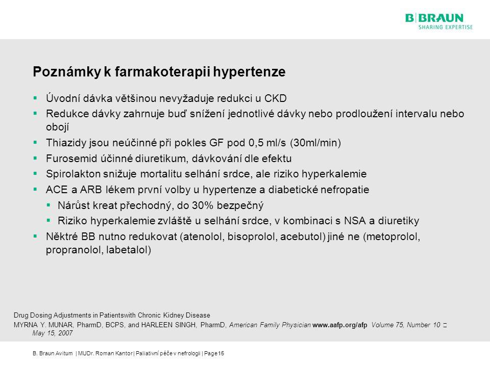 Poznámky k farmakoterapii hypertenze
