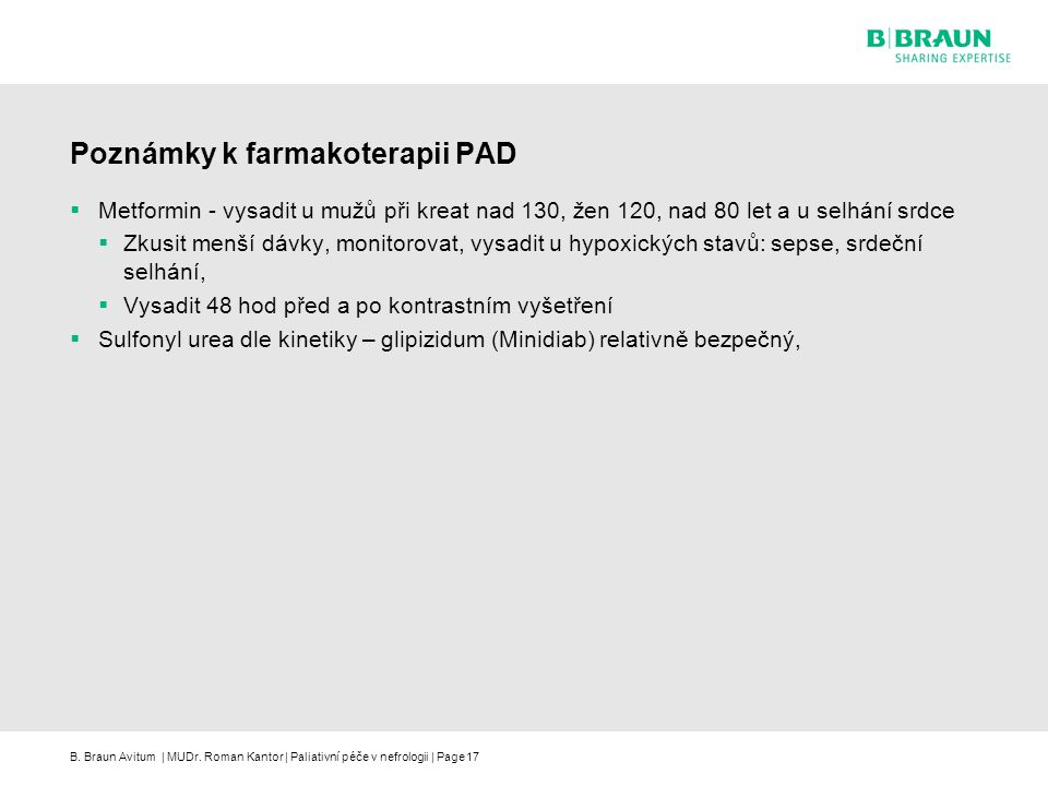 Poznámky k farmakoterapii PAD