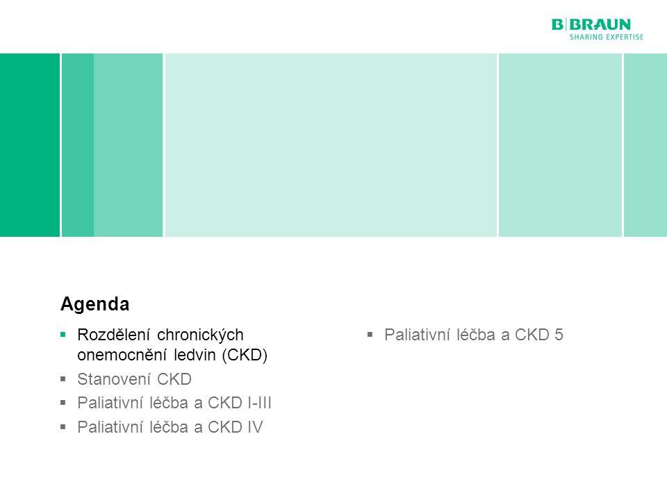 Rozdělení chronických onemocnění ledvin (CKD)