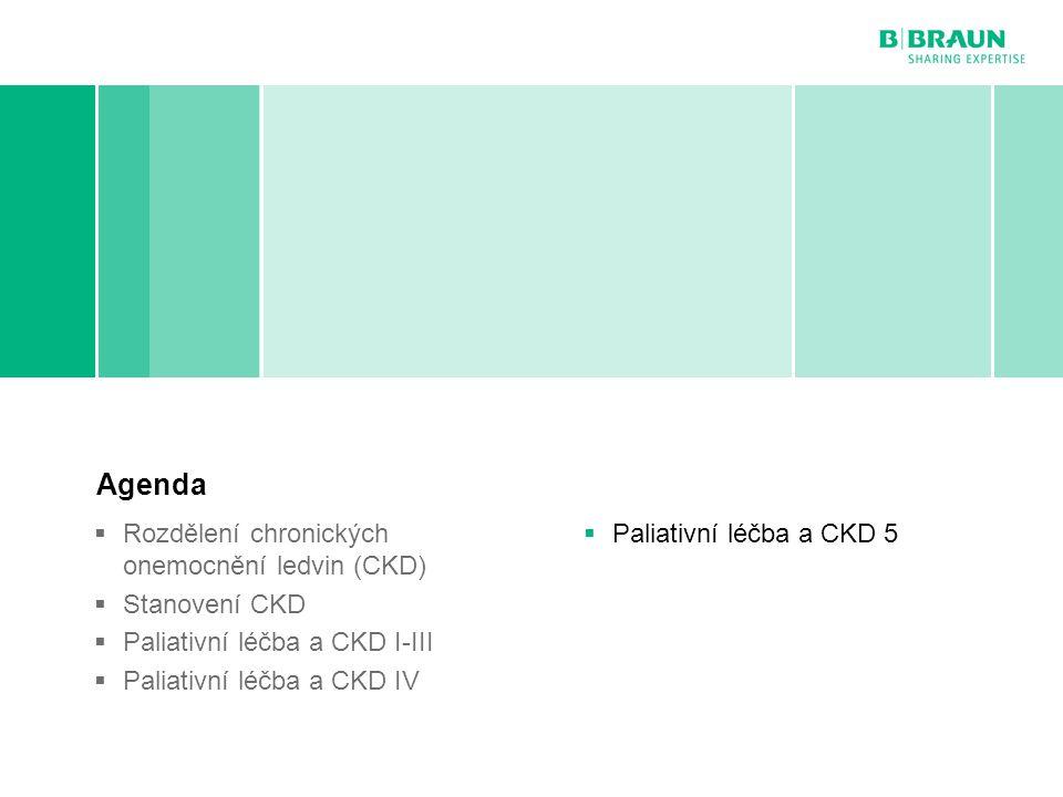 Agenda Paliativní léčba a CKD 5