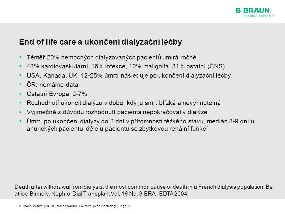 End of life care a ukončení dialyzační léčby