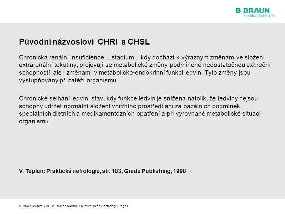 Původní názvosloví CHRI a CHSL