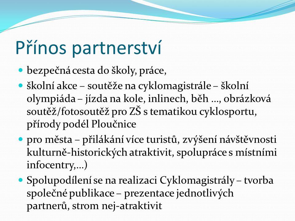 Přínos partnerství bezpečná cesta do školy, práce,
