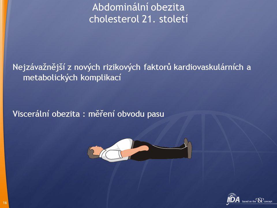 Abdominální obezita cholesterol 21. století