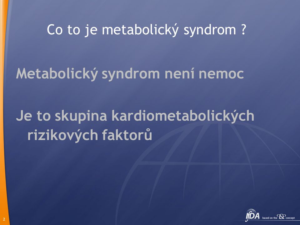 Co to je metabolický syndrom