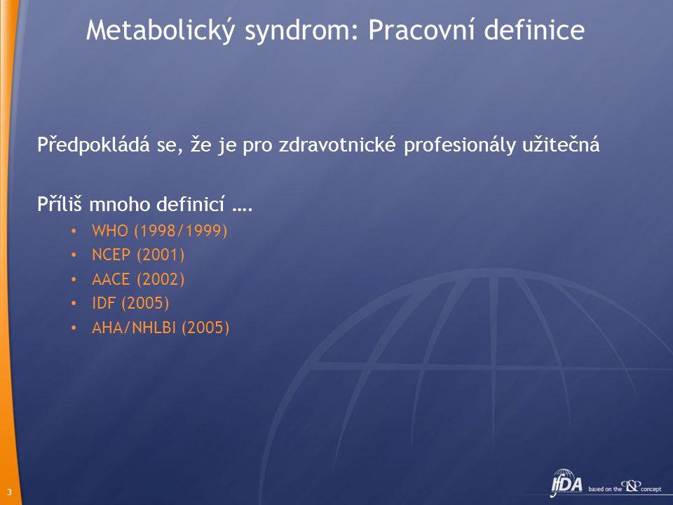 Metabolický syndrom: Pracovní definice