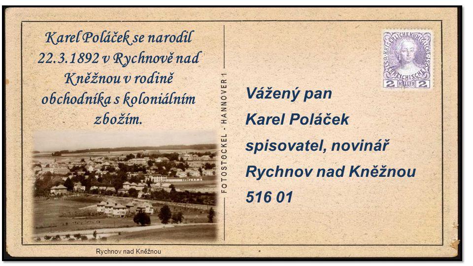 Karel Poláček se narodil 22. 3
