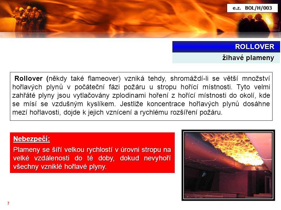ROLLOVER žihavé plameny