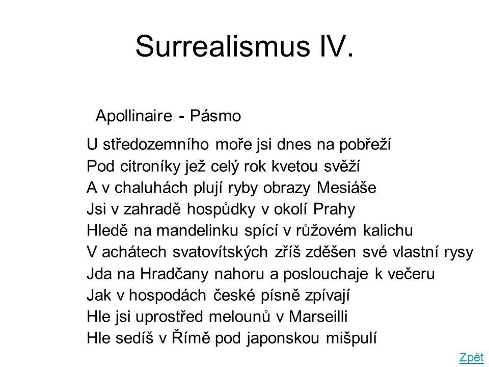 Surrealismus IV. Apollinaire - Pásmo
