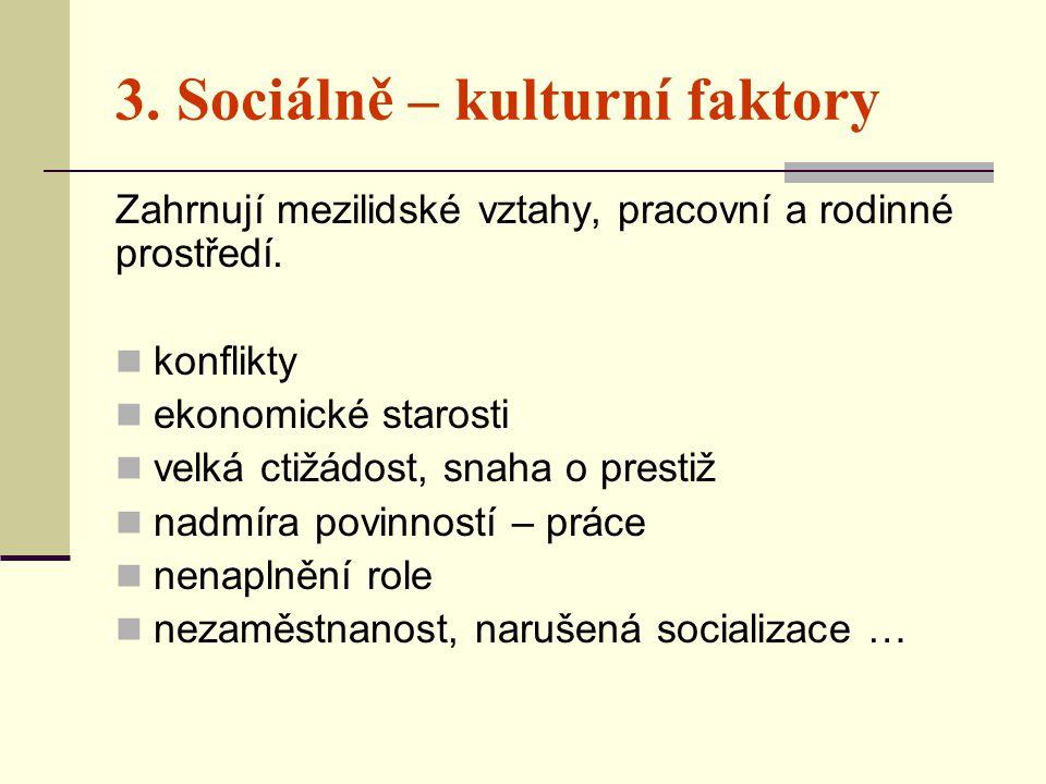 3. Sociálně – kulturní faktory