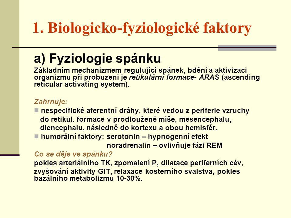 1. Biologicko-fyziologické faktory