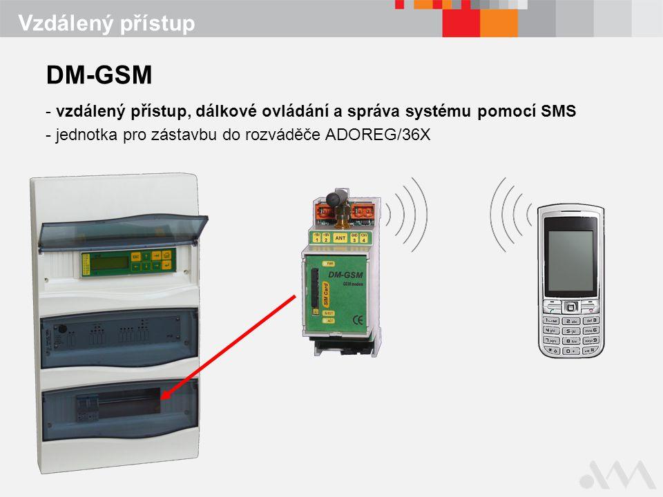 DM-GSM Vzdálený přístup