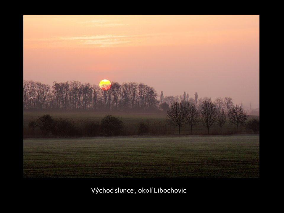Východ slunce , okolí Libochovic