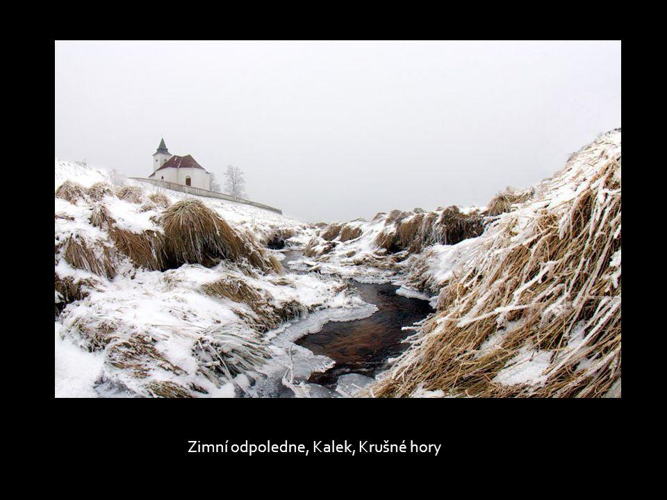 Zimní odpoledne, Kalek, Krušné hory