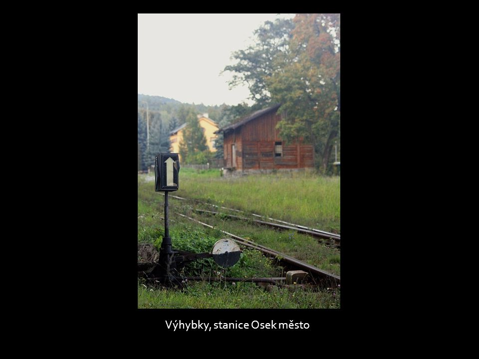 Výhybky, stanice Osek město