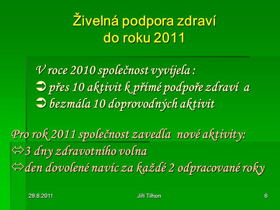 Živelná podpora zdraví do roku 2011